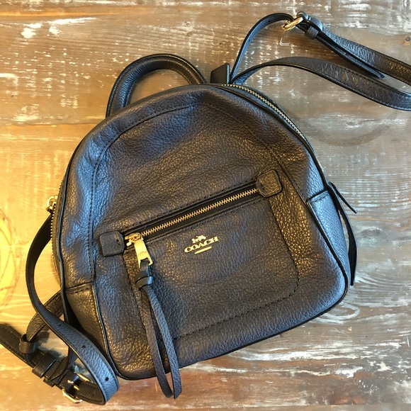Coach Handbags - Coach mini leather backpack/crossbody